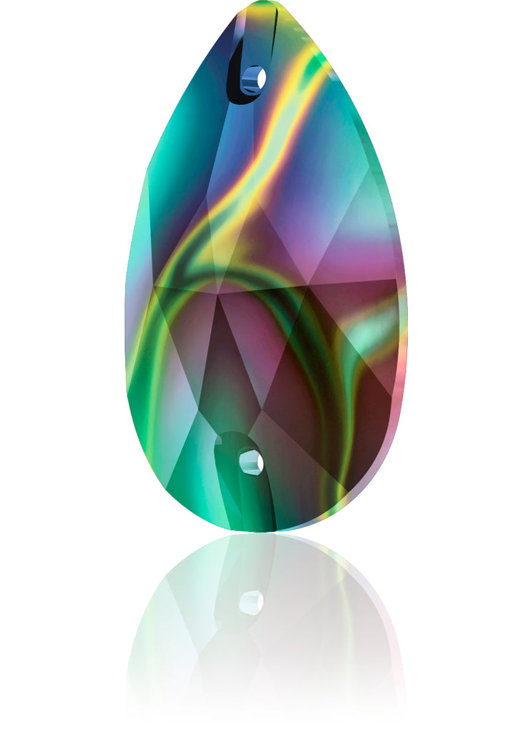 CRYSTAL RAINBOW DARK DROP SEW-ON SWAROVSKI® CRYSTAL 3230 FLAT BACK