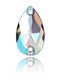 CRYSTAL SHIMMER DROP SEW-ON SWAROVSKI® CRYSTAL 3230 FLAT BACK