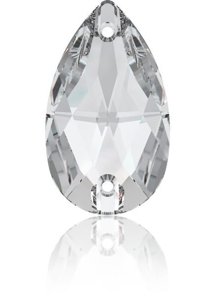 CRYSTAL CLEAR DROP SEW-ON SWAROVSKI® CRYSTAL 3230 FLAT BACK
