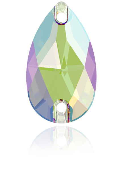 ERINITE SHIMMER DROP SEW-ON SWAROVSKI® CRYSTAL 3230 FLAT BACK