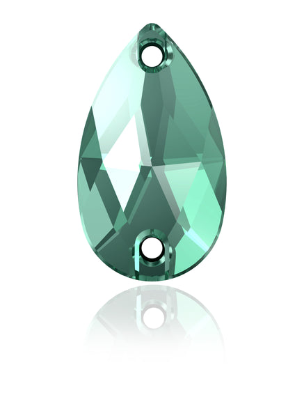 ERINITE DROP SEW-ON SWAROVSKI® CRYSTAL 3230 FLAT BACK