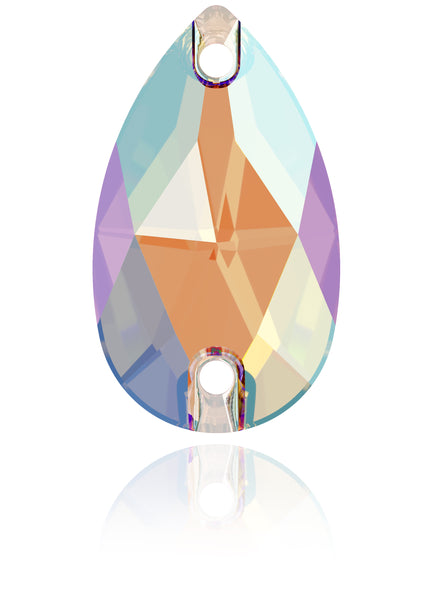 LT COLORADO TOPAZ SHIMMER DROP SEW-ON SWAROVSKI® CRYSTAL 3230 FLAT BACK