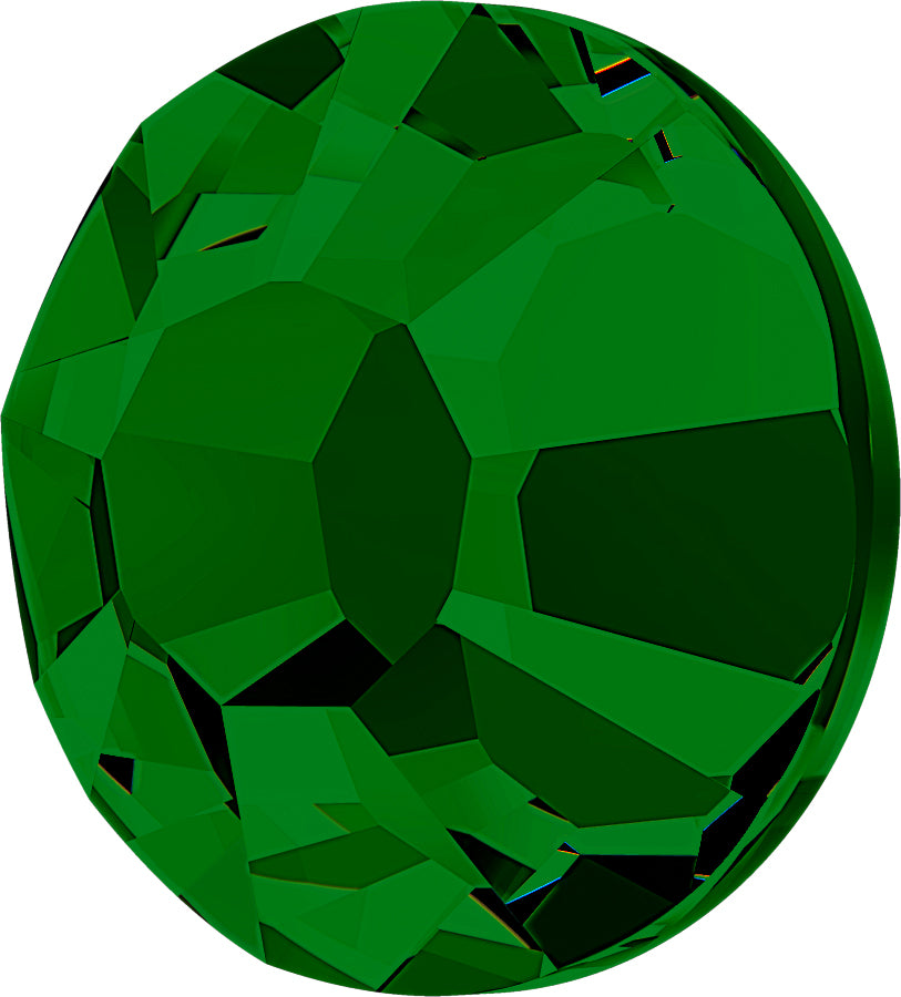STELLUX™ Austrian Crystal FLAT BACK HOTFIX FOREST GREEN