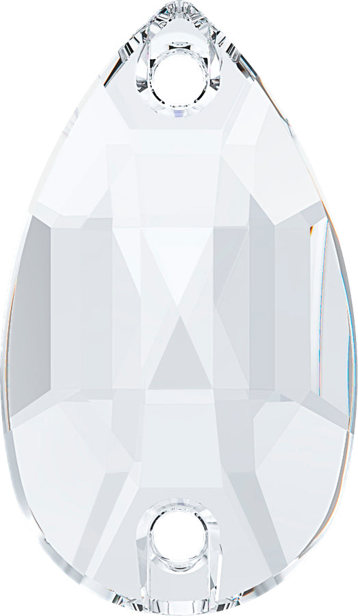 CRYSTAL CLEAR DROP SEW-ON Stellux™ Austrian Crystal 330 FLAT BACK