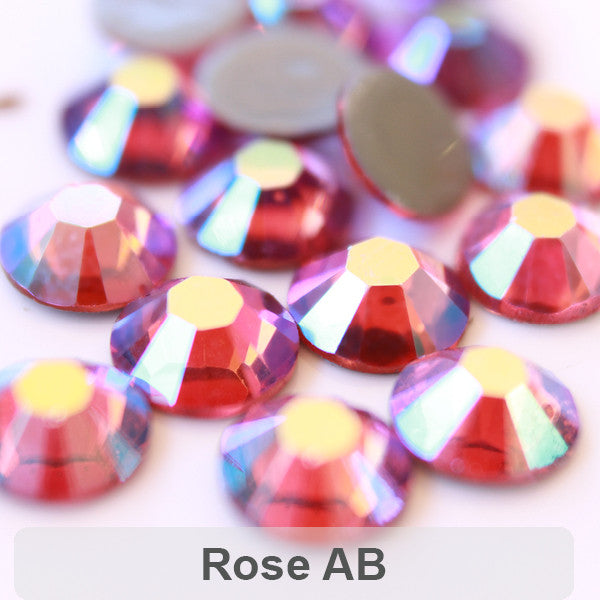 AB-Rose Korean DMC AAA Hotfix Rhinestone Flat Back