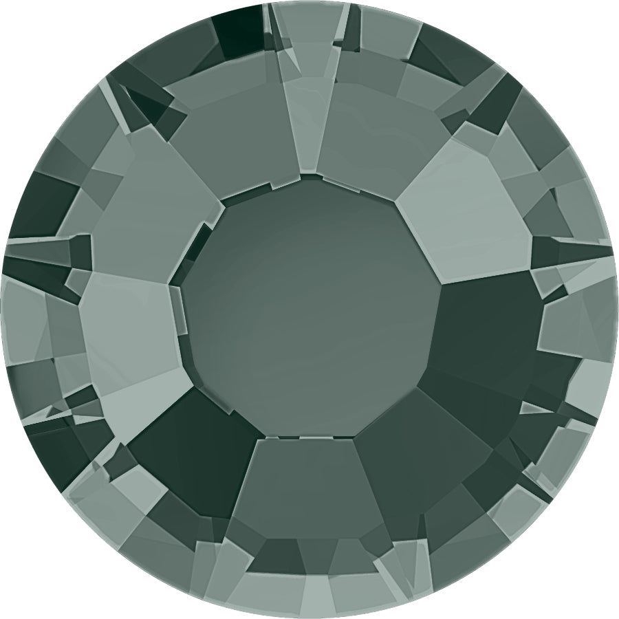 STELLUX™ Austrian Crystal FLAT BACK HOTFIX BLACK DIAMOND