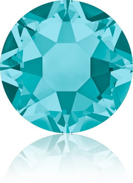 BLUE ZIRCON HOTFIX SWAROVSKI® CRYSTAL XIRIUS ROSE 2078 FLAT BACK