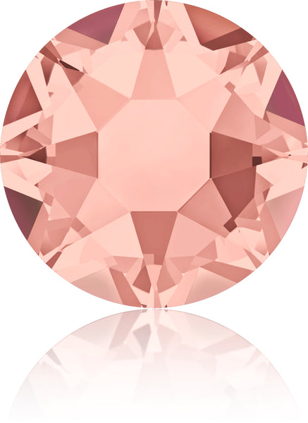 BLUSH ROSE HOTFIX SWAROVSKI® CRYSTAL XIRIUS ROSE 2078 FLAT BACK