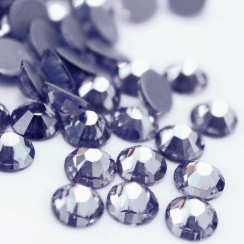 Glower® Black Diamond Premium Hotfix Rhinestone Flat Back