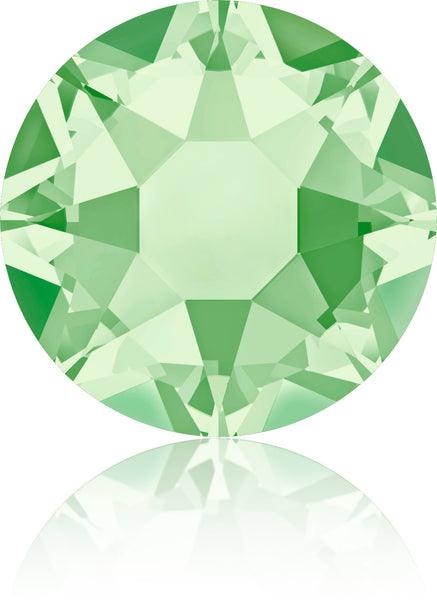 CHRYSOLITE HOTFIX SWAROVSKI® CRYSTAL XIRIUS ROSE 2078 FLAT BACK