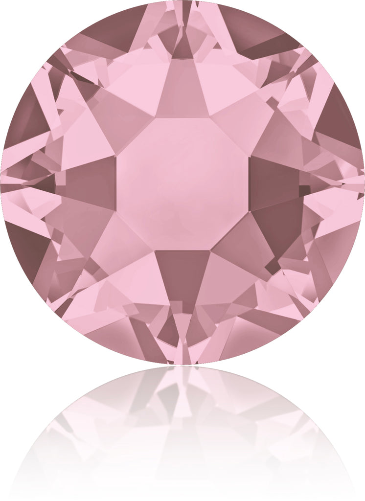 CRYSTAL ANTIQUE PINK HOTFIX SWAROVSKI® CRYSTAL XIRIUS ROSE 2078 FLAT BACK