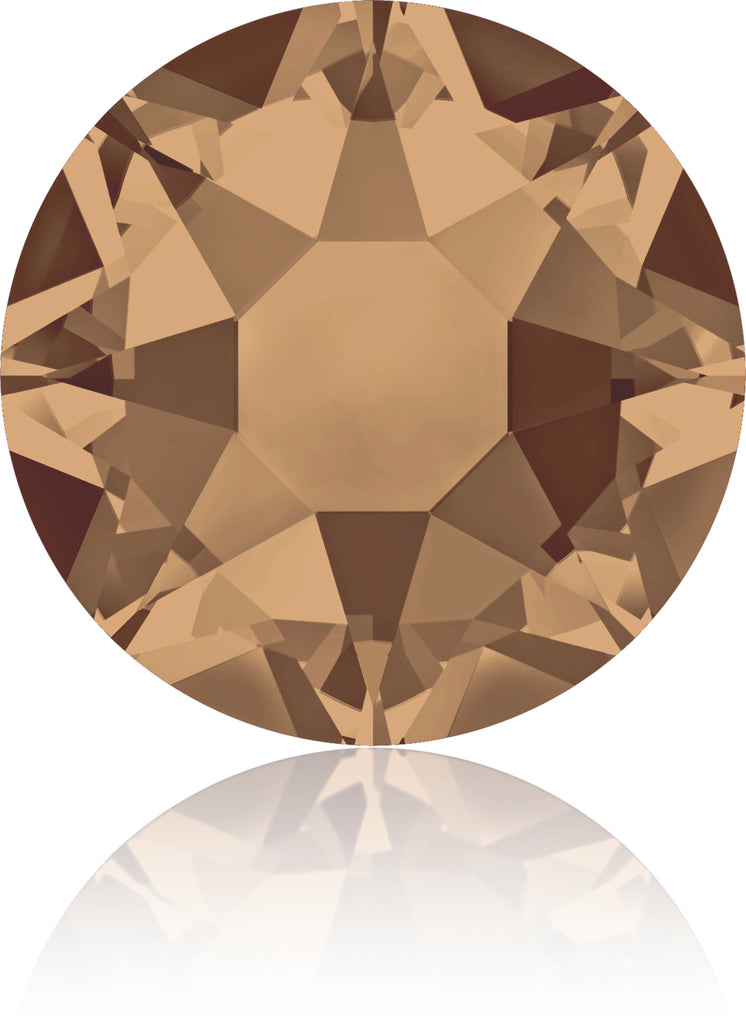 CRYSTAL BRONZE SHADE HOTFIX SWAROVSKI® CRYSTAL XIRIUS ROSE 2078 FLAT BACK