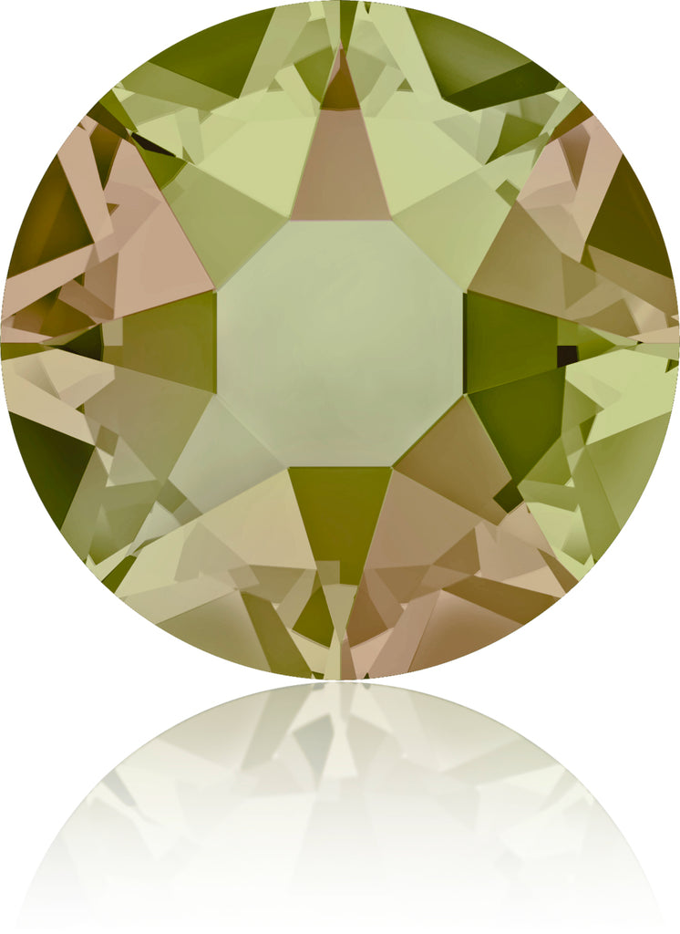 CRYSTAL LUMINOUS GREEN HOTFIX SWAROVSKI® CRYSTAL XIRIUS ROSE 2078 FLAT BACK