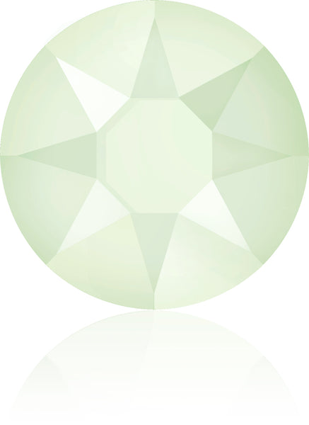 CRYSTAL POWDER GREEN HOTFIX SWAROVSKI® CRYSTAL XIRIUS ROSE 2078 FLAT BACK
