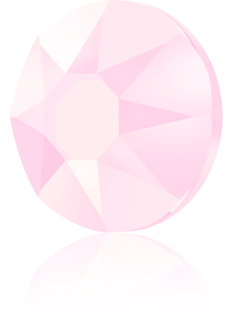 CRYSTAL POWDER ROSE HOTFIX SWAROVSKI® CRYSTAL XIRIUS ROSE 2078 FLAT BACK