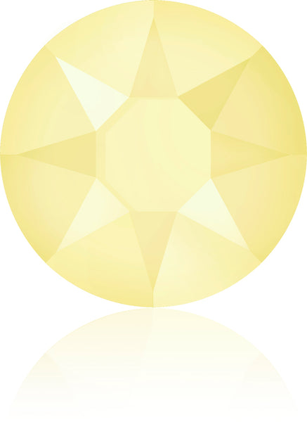 CRYSTAL POWDER YELLOW HOTFIX SWAROVSKI® CRYSTAL XIRIUS ROSE 2078 FLAT BACK