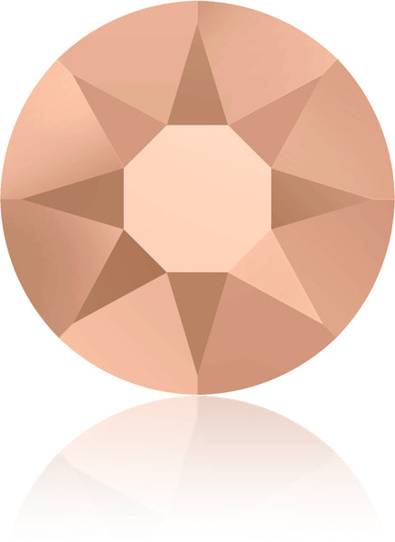 CRYSTAL ROSE GOLD HOTFIX SWAROVSKI® CRYSTAL XIRIUS ROSE 2078 FLAT BACK