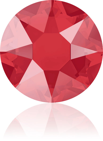 CRYSTAL ROYAL RED HOTFIX SWAROVSKI® CRYSTAL XIRIUS ROSE 2078 FLAT BACK
