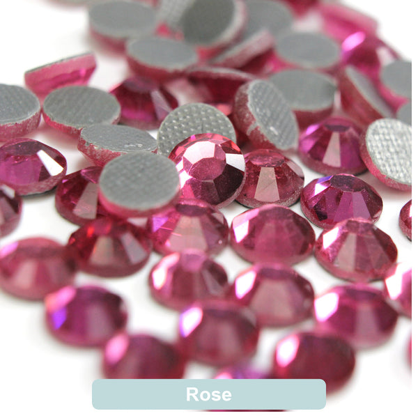 Rose DMC Hot Fix Rhinestone Flat Back