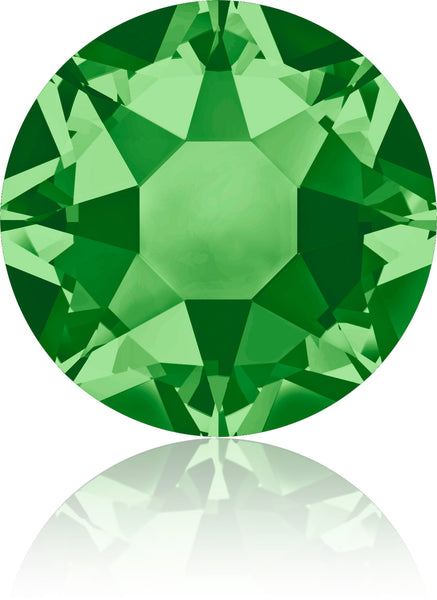 FERN GREEN HOTFIX SWAROVSKI® CRYSTAL XIRIUS ROSE 2078 FLAT BACK