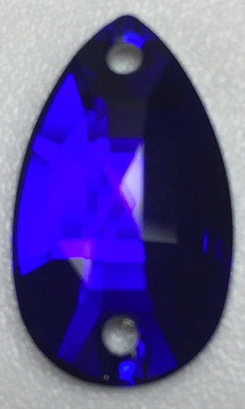 COBALT DROP SEW-ON Stellux™ Austrian Crystal 330 FLAT BACK