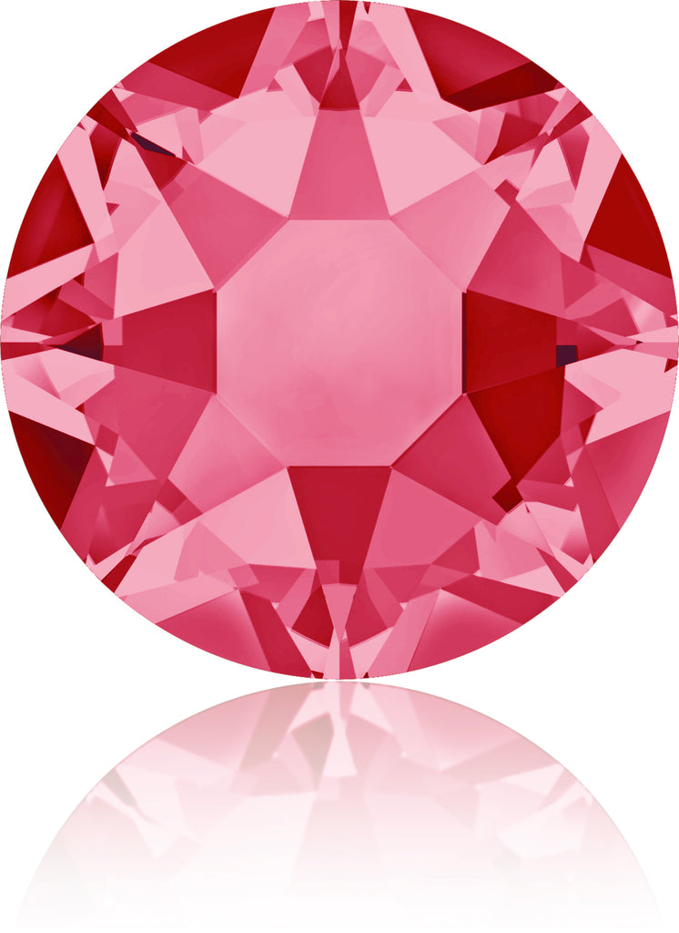 INDIAN PINK HOTFIX SWAROVSKI® CRYSTAL XIRIUS ROSE 2078 FLAT BACK