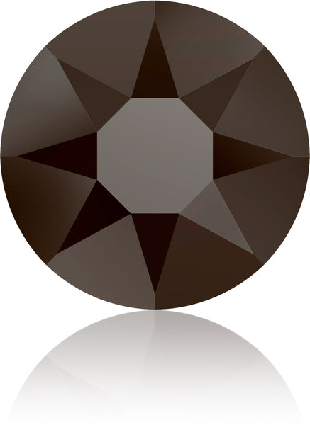 JET NUT (Brownish Black) HOTFIX SWAROVSKI® CRYSTAL XIRIUS ROSE 2078 FLAT BACK