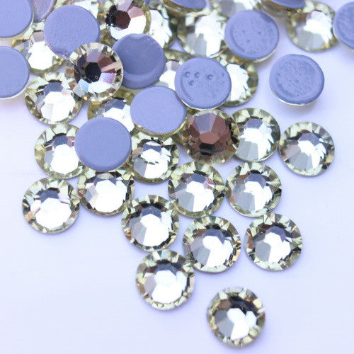 Glower® Jonquil (Pale Yellow) Premium Hotfix Rhinestone Flat Back