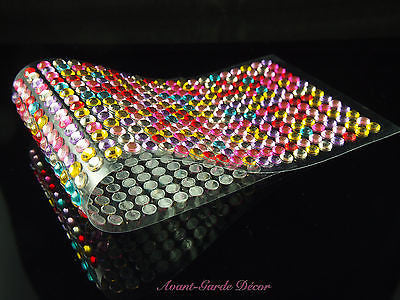 504pcs X 6mm Rainbow Rhinestone Gems Self Adhesive Stick on Crystals