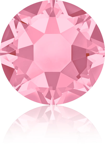 LT ROSE HOTFIX SWAROVSKI® CRYSTAL XIRIUS ROSE 2078 FLAT BACK