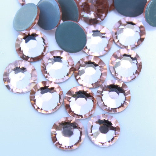 Glower® Light Peach (Champagne) Premium Hotfix Rhinestone Flat Back