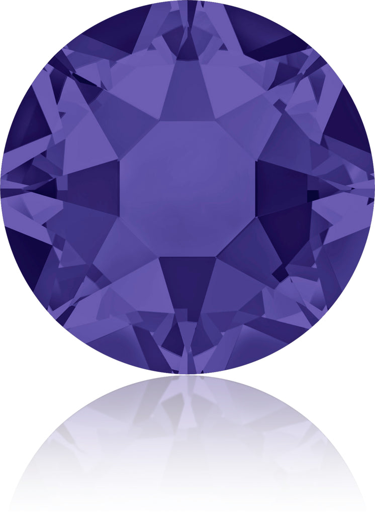 PURPLE VELVET HOTFIX SWAROVSKI® CRYSTAL XIRIUS ROSE 2078 FLAT BACK