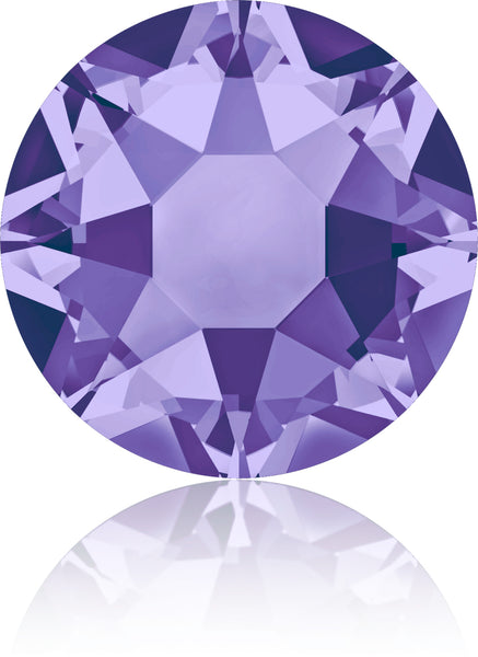 TANZANITE HOTFIX SWAROVSKI® CRYSTAL XIRIUS ROSE 2078 FLAT BACK