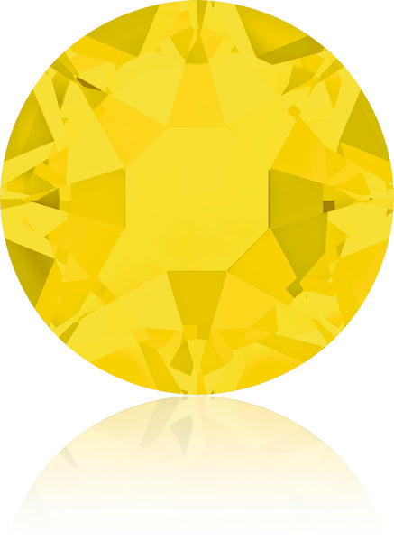 YELLOW OPAL HOTFIX SWAROVSKI® CRYSTAL XIRIUS ROSE 2078 FLAT BACK