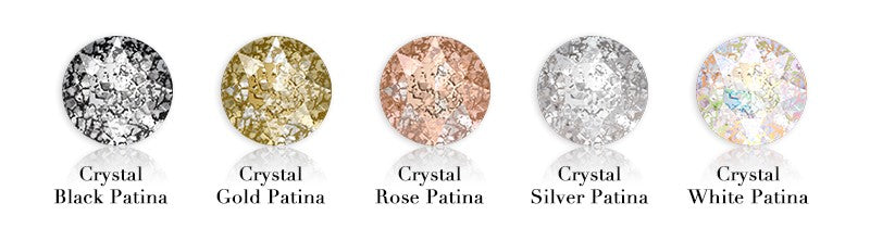 (Sale) 96pcs CRYSTAL GOLD PATINA HOTFIX SWAROVSKI® CRYSTAL XIRIUS ROSE 2078 FLAT BACK