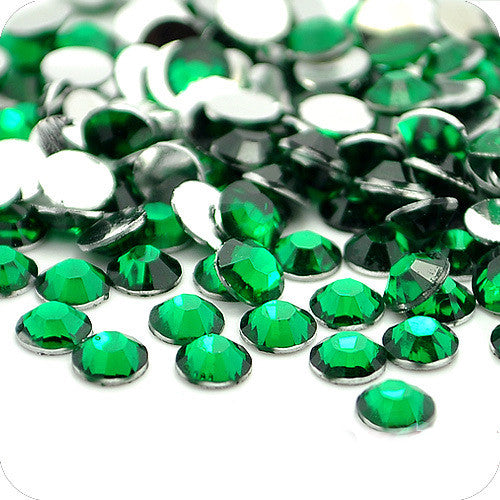 Forest Green Non-Hotfix Flat Back Rhinestone
