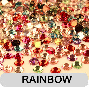 Mixed Colours Non-Hotfix Flat Back Rhinestone