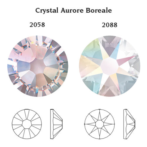 AB-CRYSTAL AB001 NO-HOTFIX SWAROVSKI ELEMENTS XILION 2058/2088 FLAT BACK