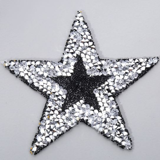 Hotfix Iron On Crystal Motif Pre-Made Star Design