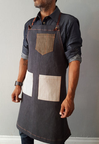 Gray Denim Apron