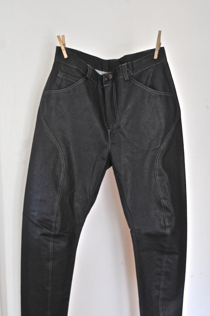 Waxed Denim Saddle Pant