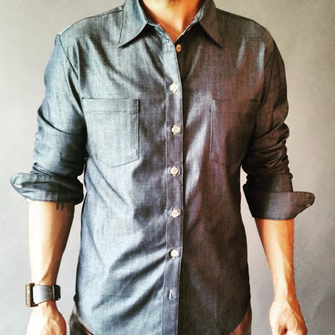 Medium Weight Polished Denim Chambray Shirt