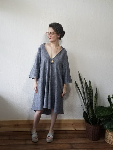 Hooded Linen Dress