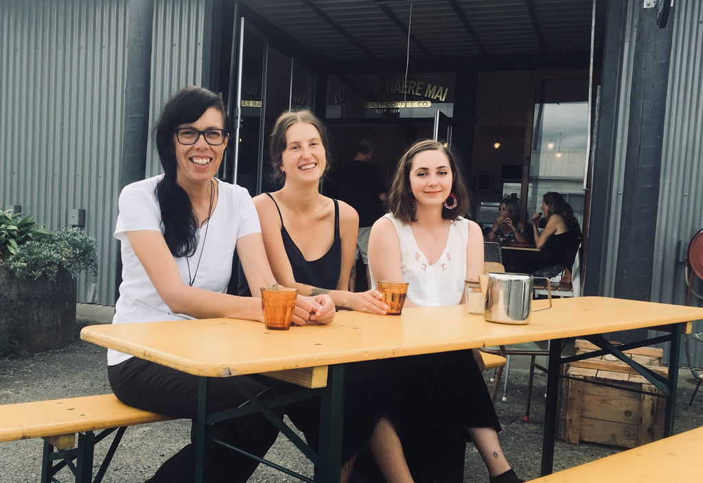 The women of Far East Coffee Co. L-R Jo Pepuere, Tess Shaw and Chante Claassen