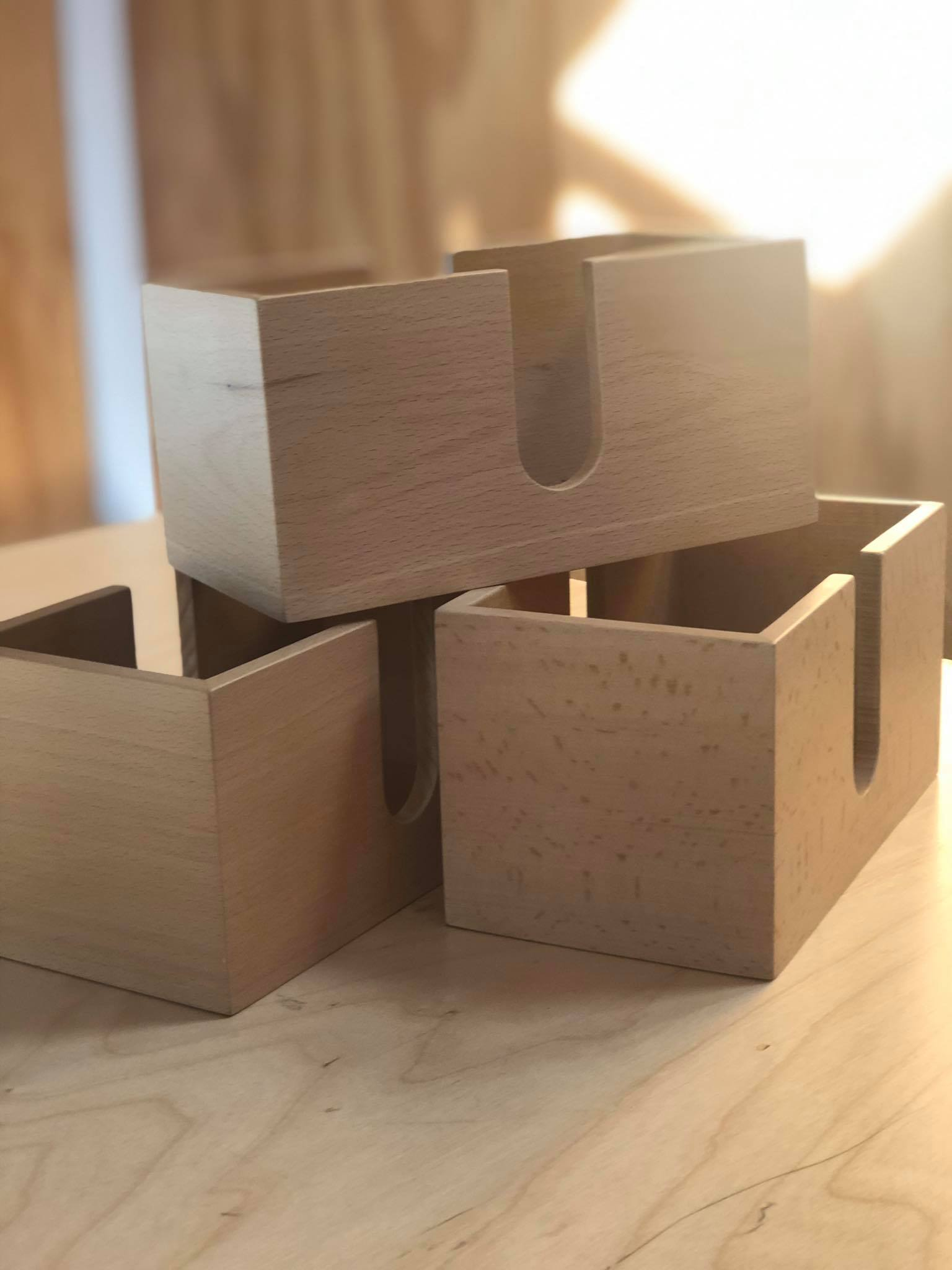 Refurbished Wooden Serviette Holders