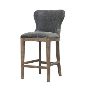 Dorsey Counter Stool, Nubuck Charcoal