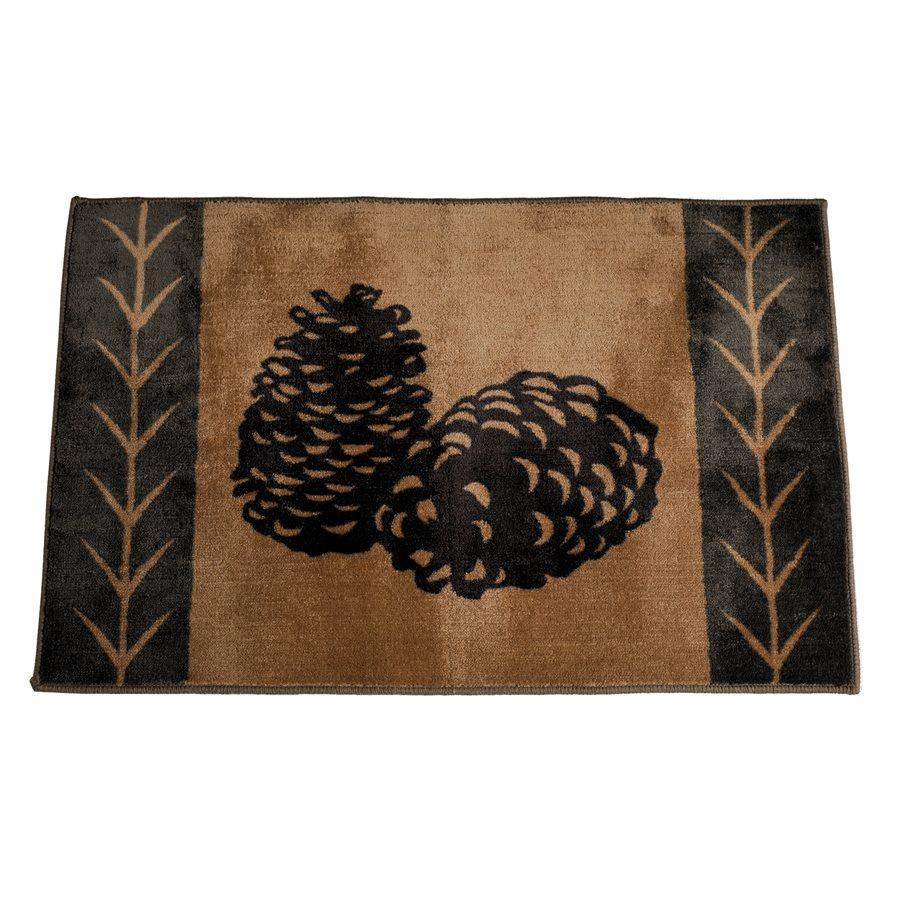 Pine Cone Accent Rug