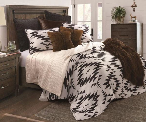 Black and White Aztec Comforter Set