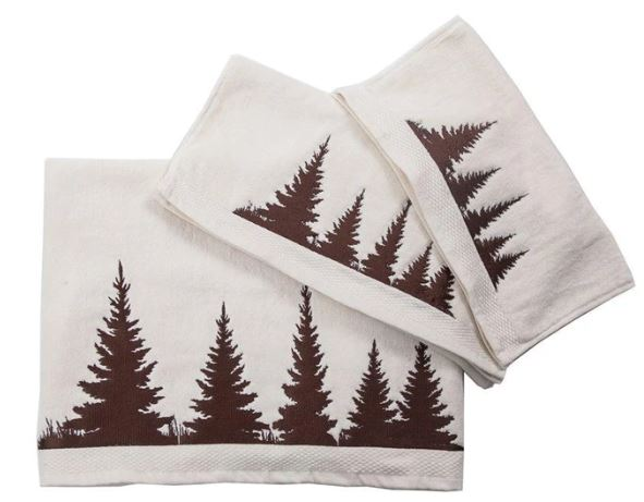 Clearwater Pines Embroidered Towel Set