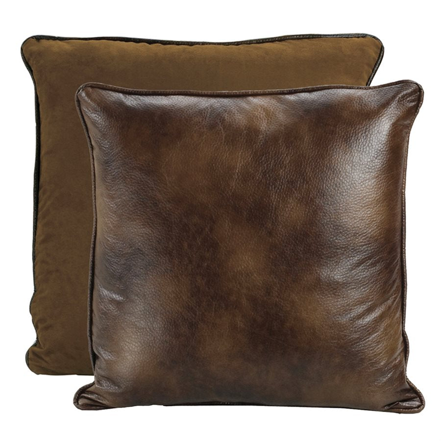 Faux Leather Reversible Euro Sham